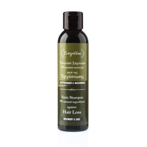 Shampoo tonificante anticaduta con rosmarino e salvia