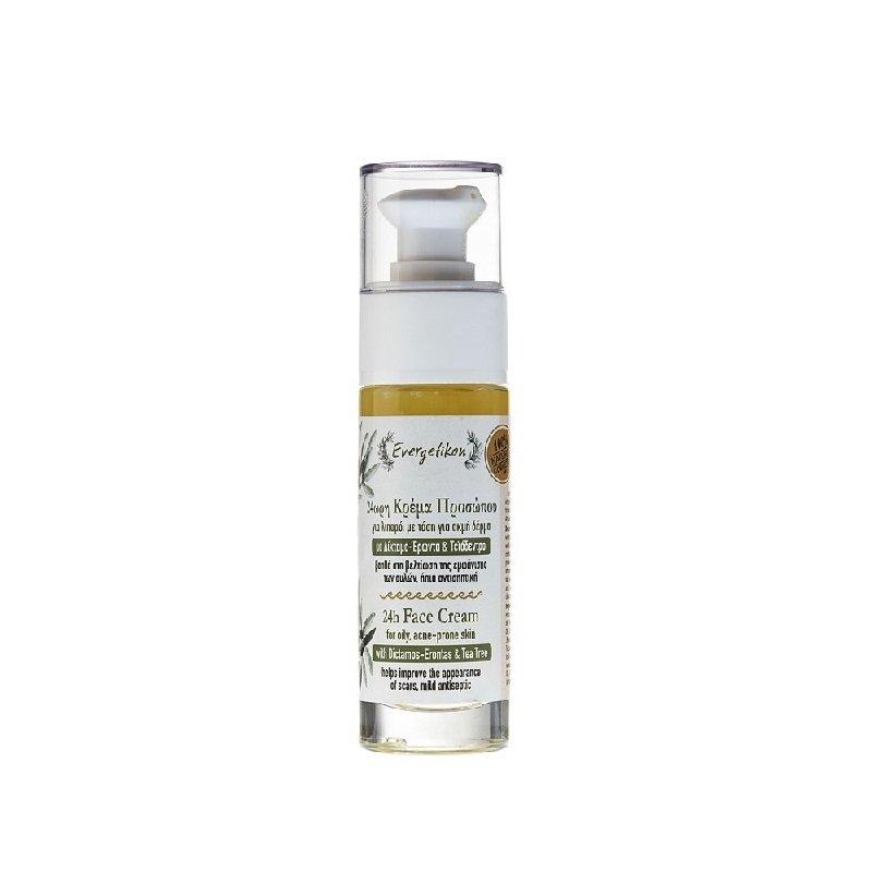 Crema viso 24h per pelli grasse e acneiche - 30ml